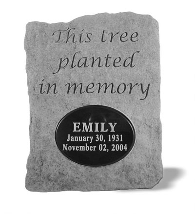 This Tree Planted Stone Memorial